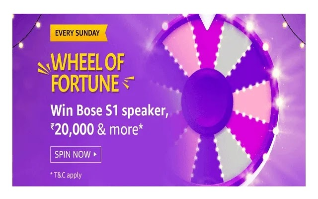Amazon Quiz Sunday Special Wheel Of Fortune Answer - 9th February