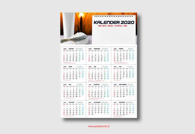 Download Template Kalender 2020 Format CDR dan AI