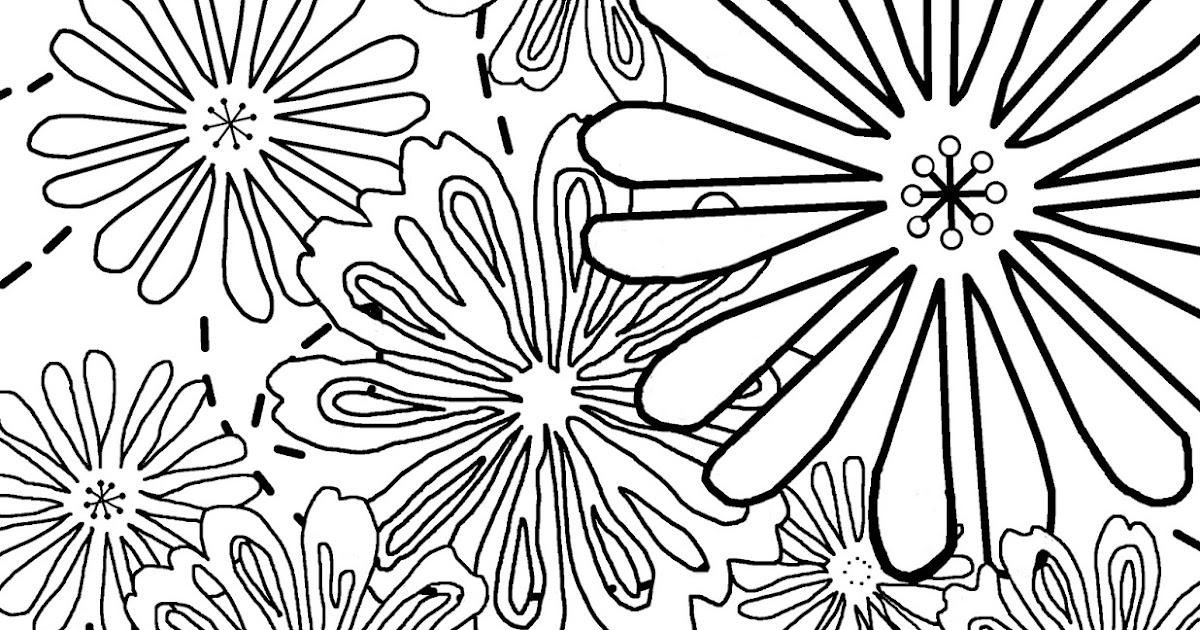Coloring Page World: Flowers (Portrait)
