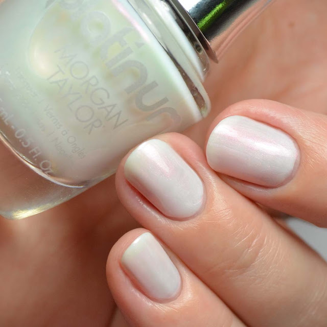 white duo chrome nail polish
