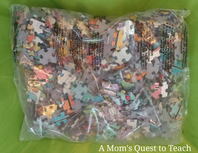 bag of puzzle pieces