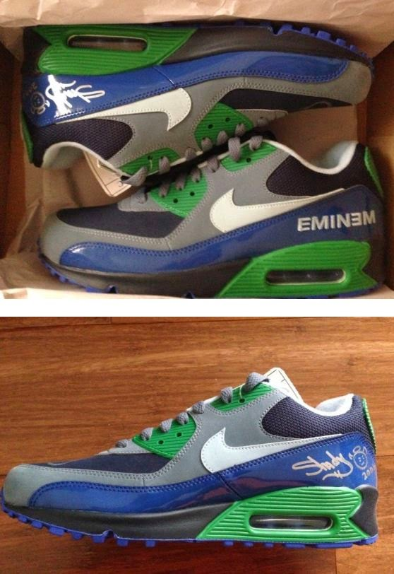 new concept 04581 add7b ... a pair of Eminem x Nike Air Max 90 Promo Sneaker Spotted On on ebay  HERE! These definitely are something special for the Diehard Eminem Fan!