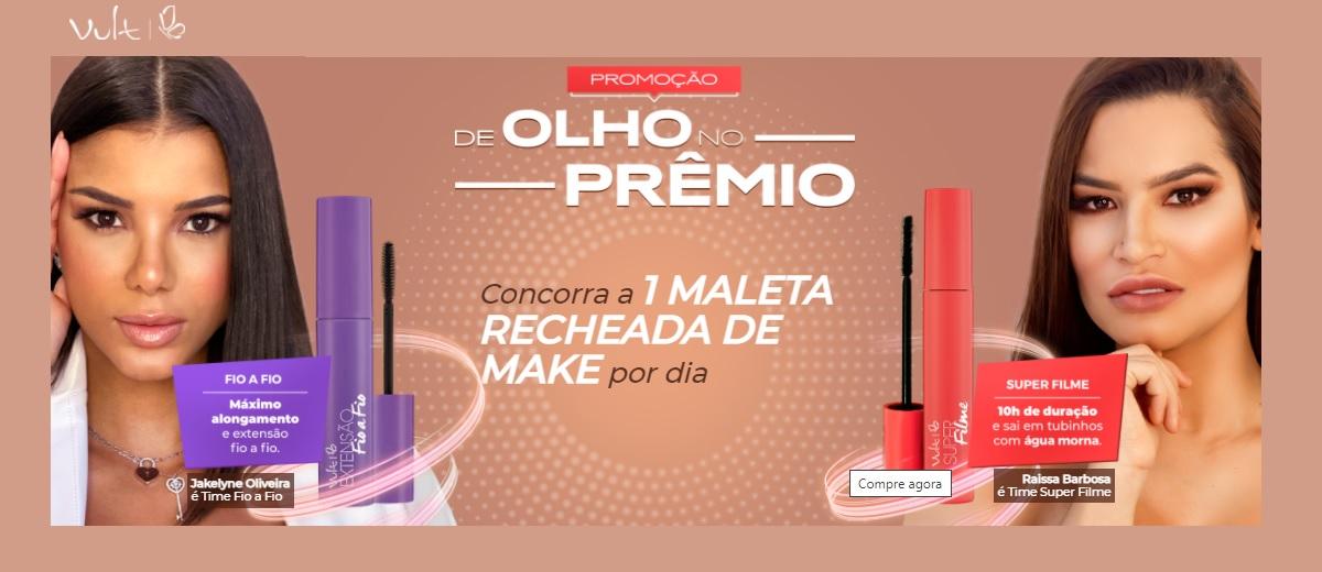 Promoção Vult 2021 De Olho no Prêmio Maleta Maquiagem Todo Dia