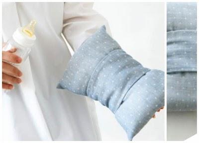 Cojín de lactancia de brazo con banda extraíble