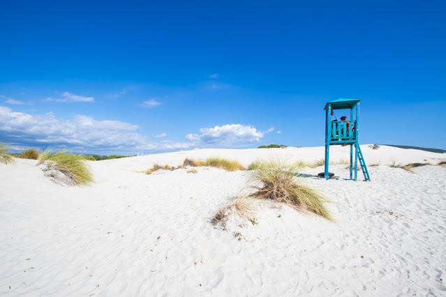 Spiaggia di Is Arenas biancas-Dune e torretta