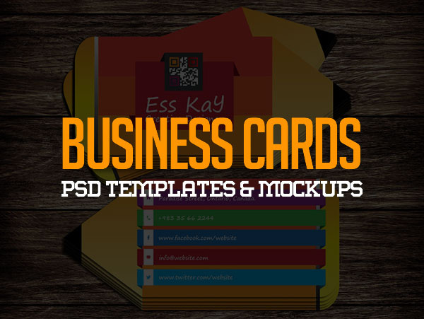 40 Modern Free Business Card Mockups PSD Templates