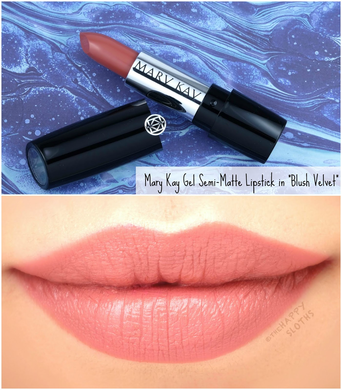 """Mary Kay   Spring 2020 Gel Semi-Matte Lipstick in """"Blush Velvet"""": Review and Swatches"""