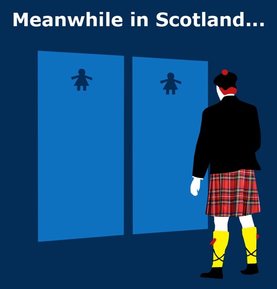 Scottish Toilets Funny Sign