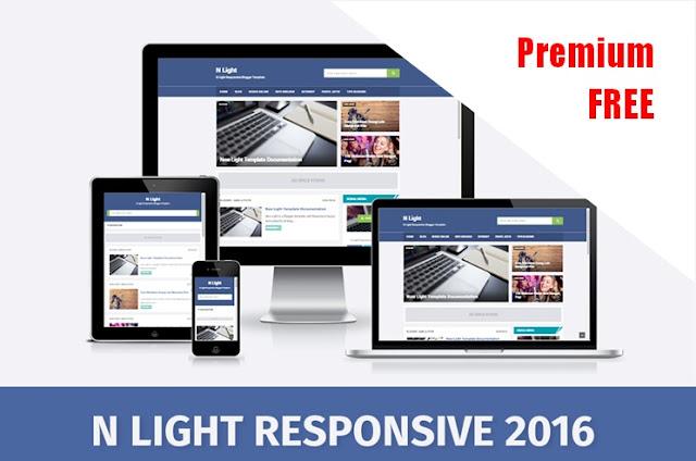 N Light 6 Pro Responsive & Fast Loading SEO Blogger Template Free