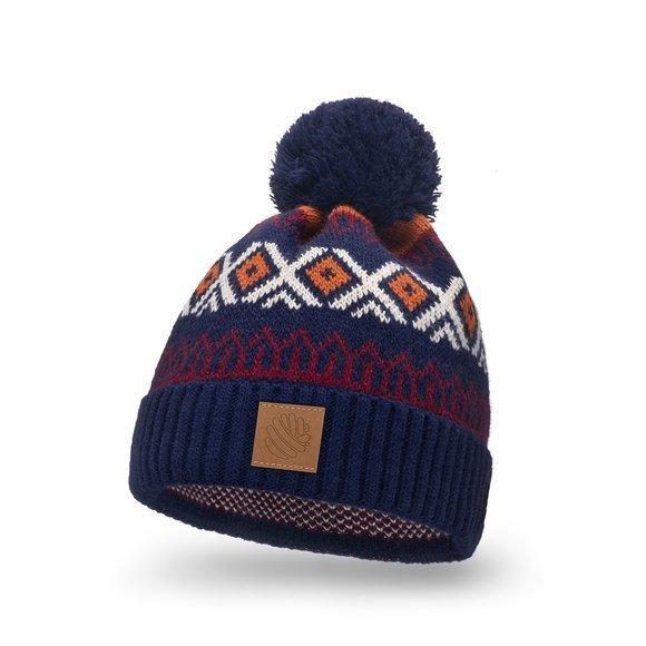 Zimowa czapka dla kobiet i mężczyzn w norweskie wzory