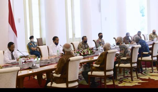 Didatangi Purnawirawan, Jokowi: Pemerintah Tidak Ikut Campur Soal RUU HIP