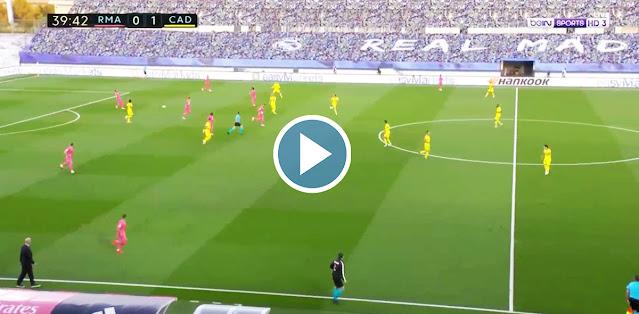 Real Madrid vs Cádiz Live Score