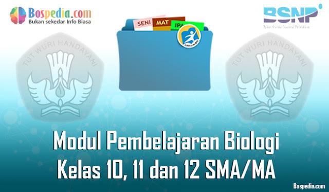 Modul Pembelajaran Biologi Kelas 10, 11 dan 12 SMA/MA