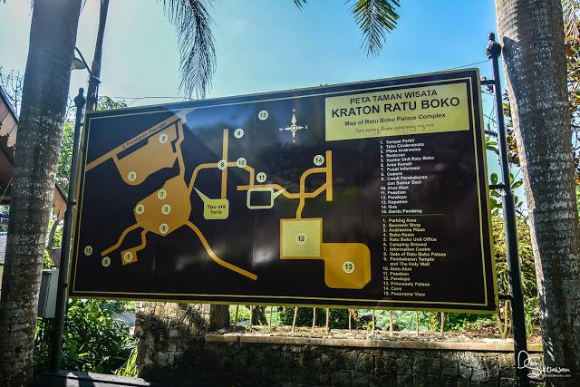 Peta Taman Wisata Kompleks Candi Ratu Boko, Yogyakarta