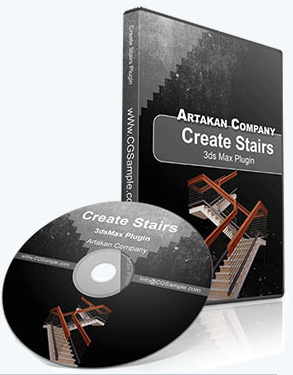 Plugins - Artakan Create Stairs 2.3.0 [V-Ray | * .max]