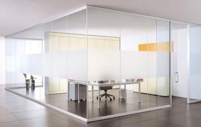 Cửa kính cường lực văn phòng hiện đại 01