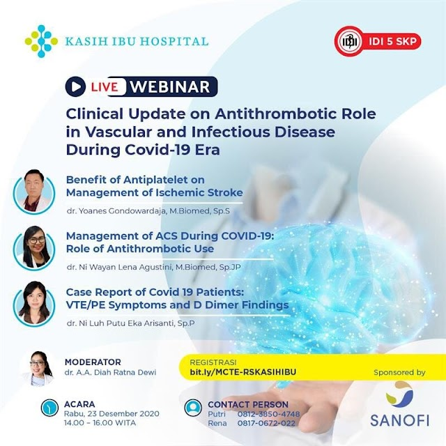 Webinar Clinical Update on Antithrombotic Role in Vascular and Infectious Desase during Covid-19 Era