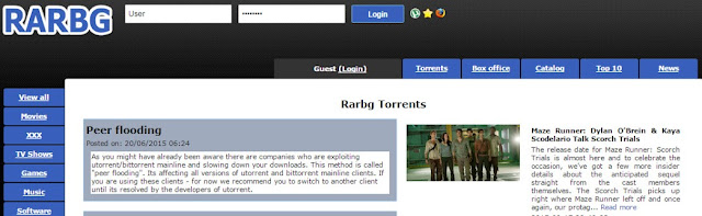 rarbg very useful torrent website