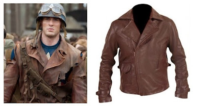 Jaket Kulit Captain America