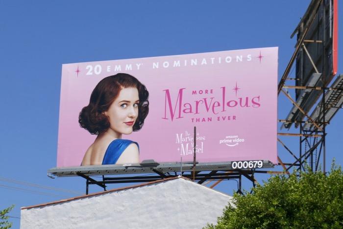 Marvelous Mrs Maisel 2019 Emmy nominee billboard