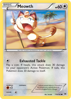 Meowth BREAKthrough Pokemon Card