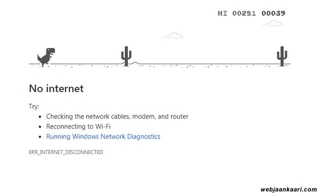free offline dinosaur game khele chrome browser me