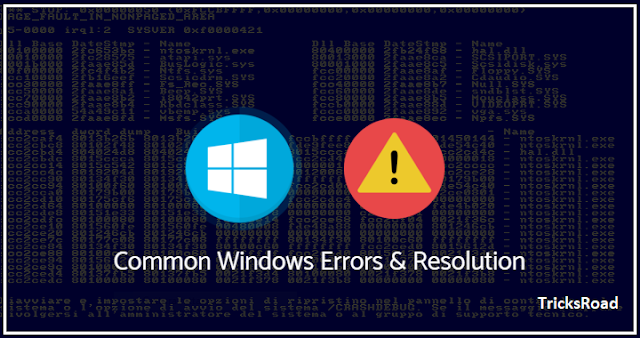 Top 5 Windows Error Messages and Resolution