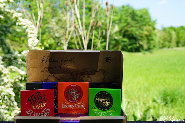 Willie's Cacao Dark, Milk, White Chocolate Tasting Box