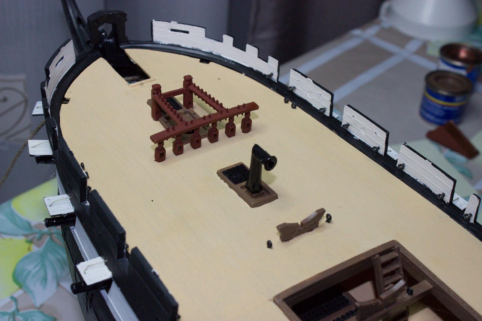 Sailing Ship Models Uss Constitution Spar Deck Details