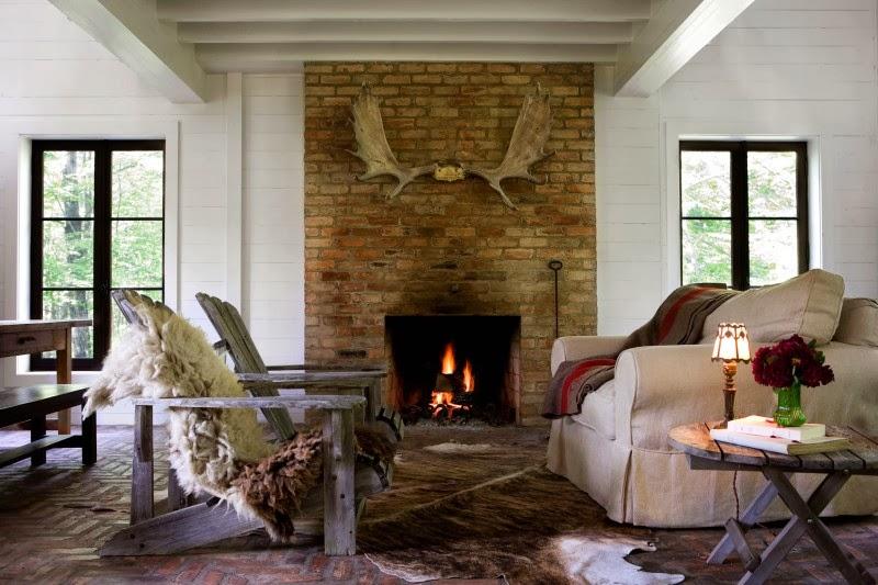 Hogares frescos dise o interior con un toque r stico y - Disenos de interiores ...