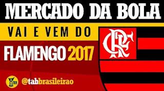 Mercado da Bola 2017: Flamengo e o vai e vem do mercado  (tab BRASILEIRÃO)