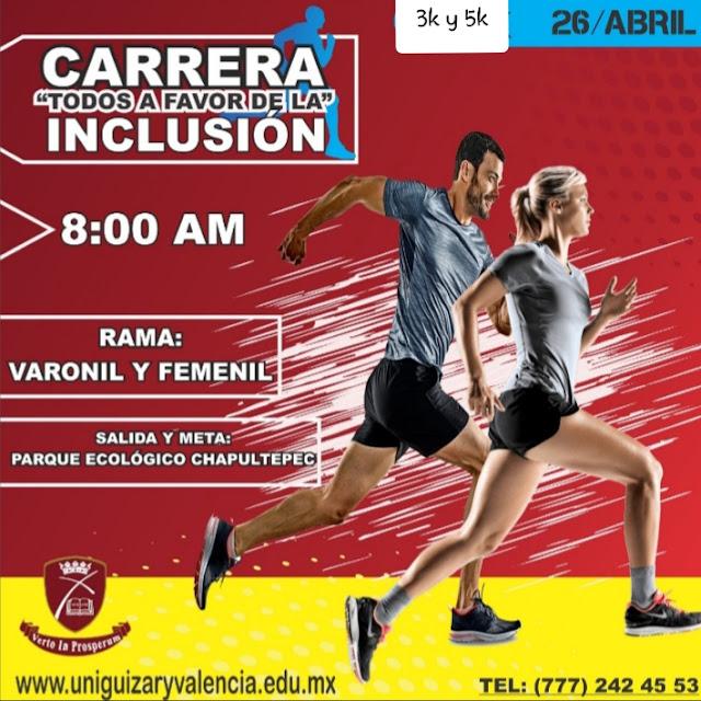 Carrera U. Guizar y Valencia 3 y 5k - 26 abril 2020