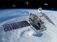 The Global Precipitation Measurement satellite run by NASA is part of a larger constellation of satellites monitoring rain and snow around the world. (Credit: NASA) Click to Enlarge.