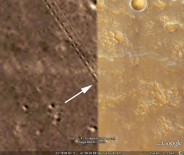 Sistemas de rieles y construcciones en Marte