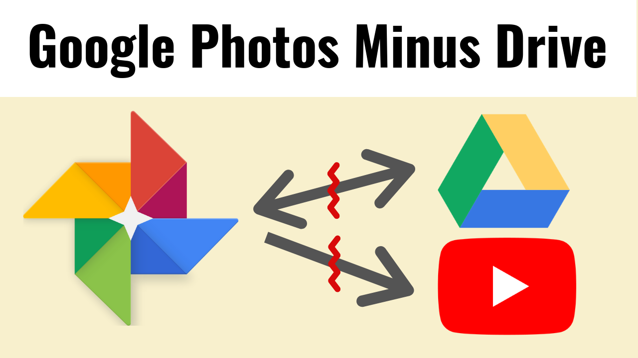 Google Photos split from Google Drive, no longer available for
