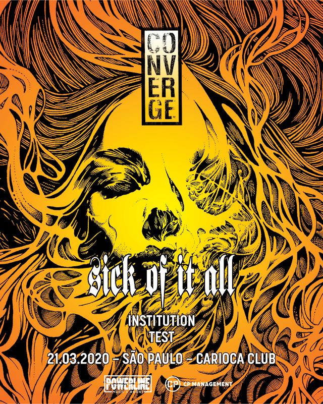 Sick of it All e Converge juntos em São Paulo no mês de Março
