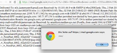 gmail xss