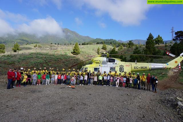 Intervención y Refuerzo contra Incendios (EIRIF) - El Eirif cierra su temporada de actividad en La Palma con una última charla divulgativa para 150 niñas y niños de El Paso