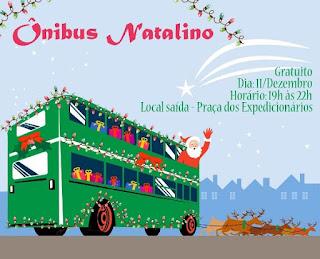 Ônibus Natalinos vão percorrer as ruas do centro de Registro-SP nesta terça-feira, 11/12