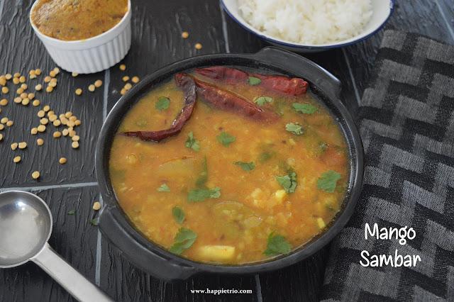 Raw Mango Sambar Recipe | Mangai Sambar