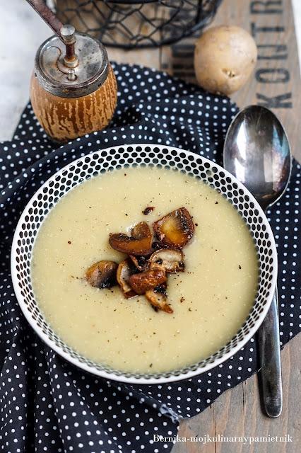 ziemniaki, zupa, ziemniaczana, obiad, bernika, kulinarny pamietnik, pieczarki
