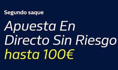william hill Segundo Saque 100€ Gratis Tenis