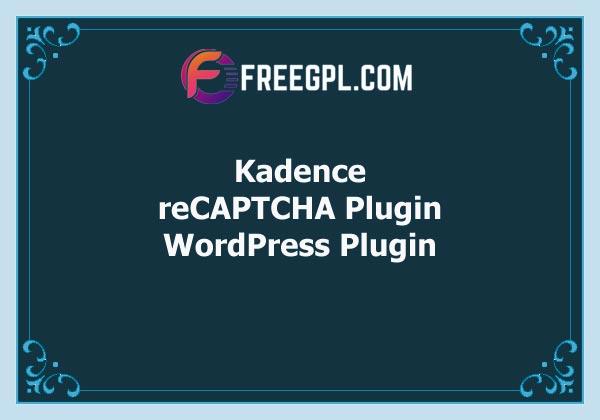 Kadence reCAPTCHA Plugin Free Download