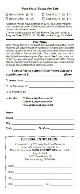 Ohio Poetry Day entry form
