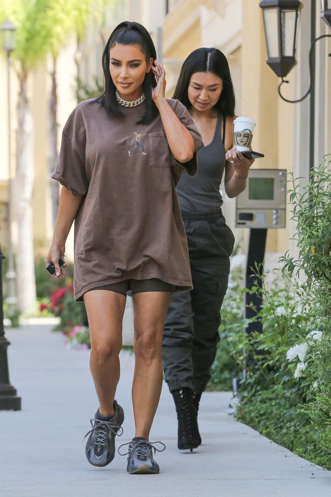 Kim Kardashian steps out in Travis Scott T-shirt in Calabasas