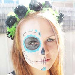 Day of the Dead how to do makeup DIY tutorial