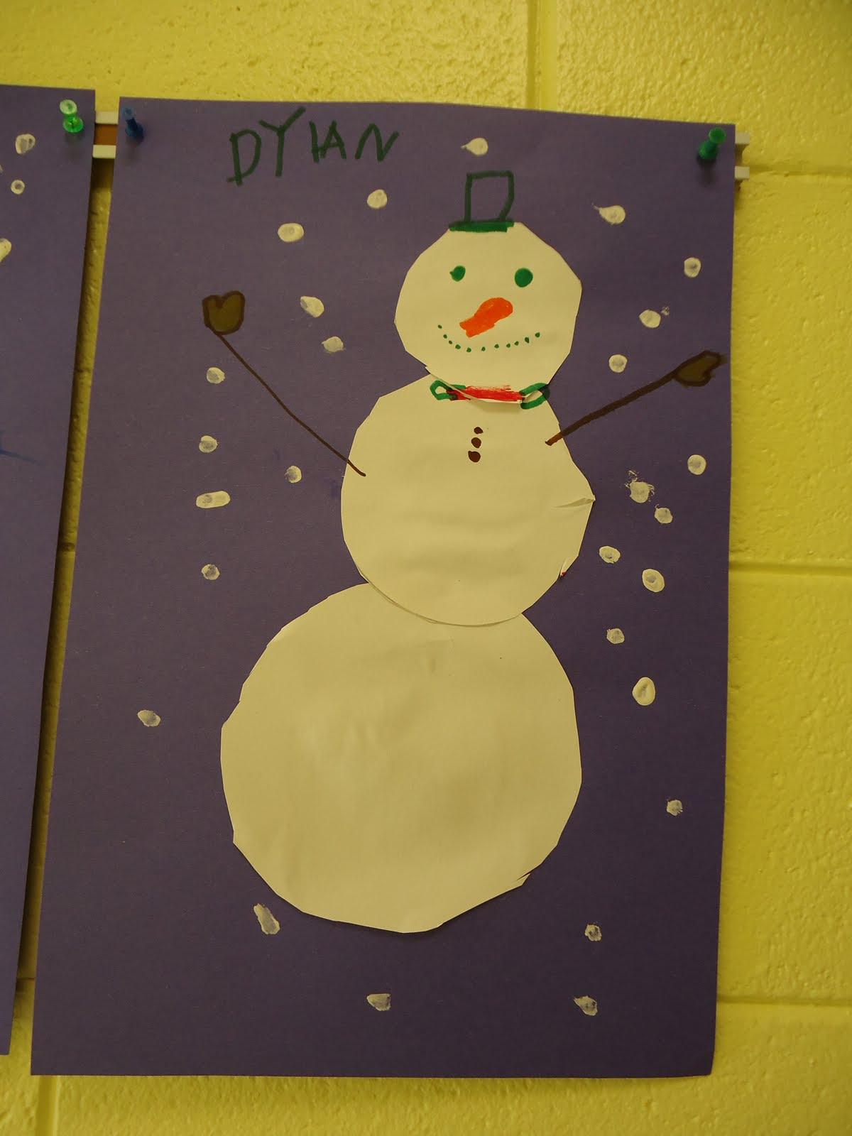Trinity Preschool Mount Prospect Snowman Cutting Project