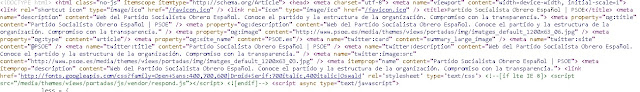 codigo fuente de la web
