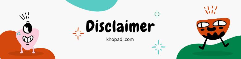 Disclaimer-Khopadi