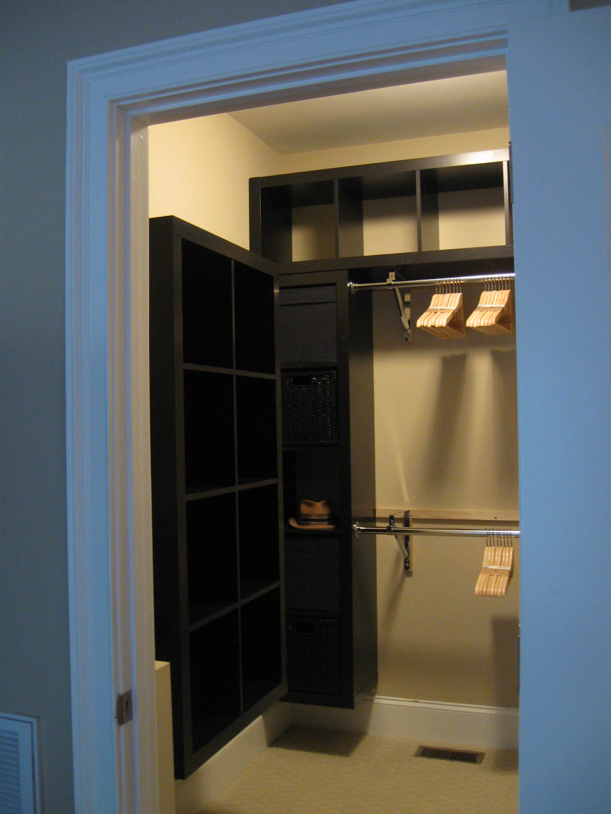 Expedit closet small walk in get home decorating - Small closet design ideas ...